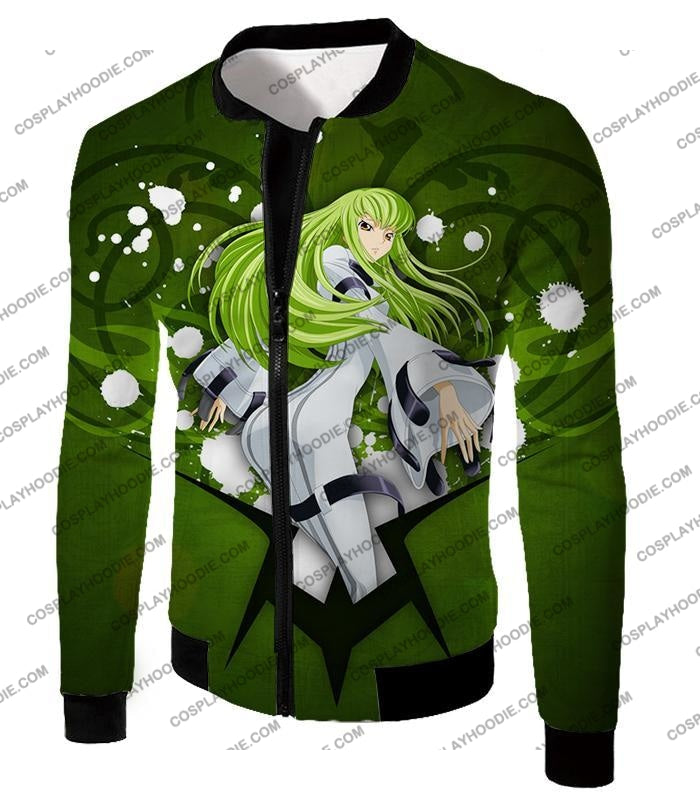 Anime Girl C.c. The Immortal Witch Cool Graphic Green T-Shirt Cg004 Jacket / Us Xxs (Asian Xs)
