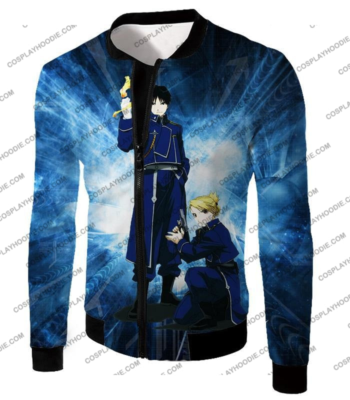 Fullmetal Alchemist Awesome State Military Personnels Roy X Riza Anime Action Pose T-Shirt Fa004