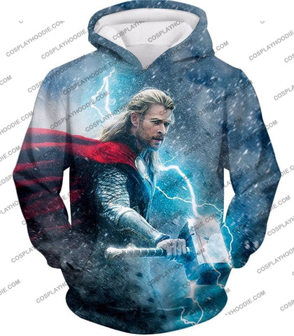 Image of Super Cool Thor Ragnarok Movie Still Amazing Action T-Shirt Thor040 Hoodie / Us Xxs (Asian Xs)
