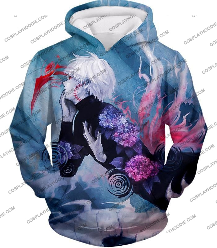 Tokyo Ghoul Cool Anime Graphic Promo Ken Kaneki Awesome Printed T-Shirt Tg090 Hoodie / Us Xxs (Asian