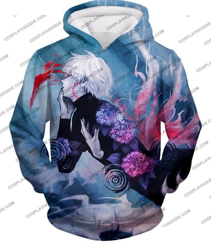 Image of Tokyo Ghoul Cool Anime Graphic Promo Ken Kaneki Awesome Printed T-Shirt Tg090 Hoodie / Us Xxs (Asian