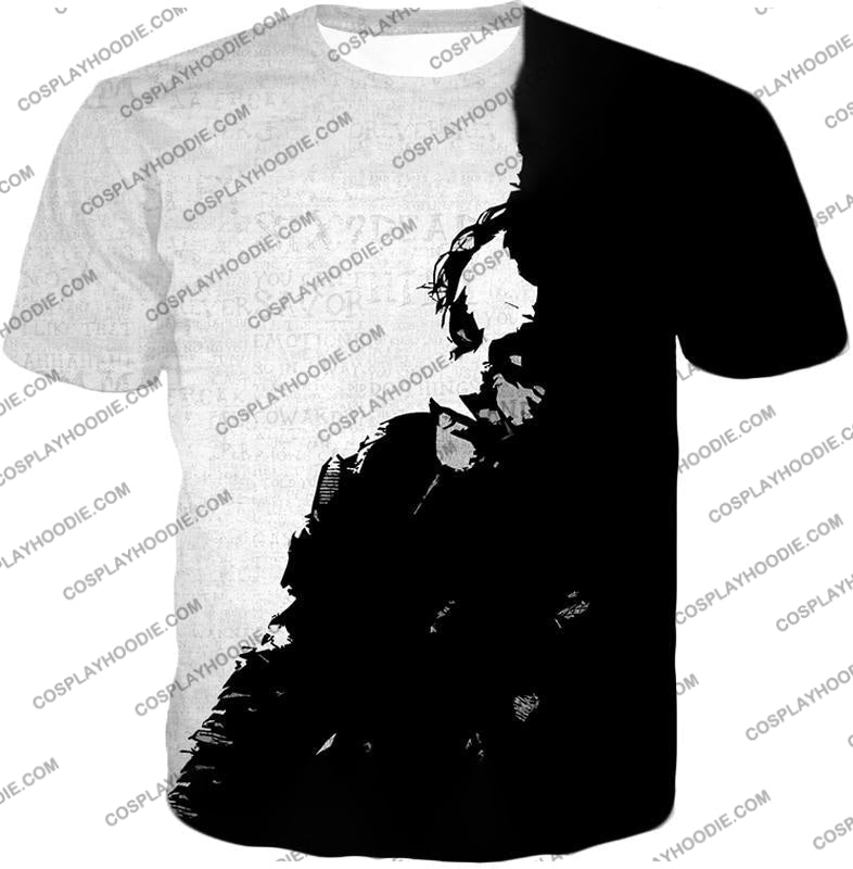 Ultimate Psychotic Villain The Joker Amazing Black And White T-Shirt Bm040 / Us Xxs (Asian Xs)