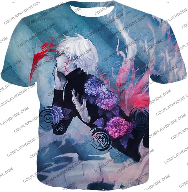 Tokyo Ghoul Cool Anime Graphic Promo Ken Kaneki Awesome Printed T-Shirt Tg090 / Us Xxs (Asian Xs)
