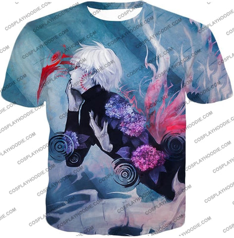 Image of Tokyo Ghoul Cool Anime Graphic Promo Ken Kaneki Awesome Printed T-Shirt Tg090 / Us Xxs (Asian Xs)