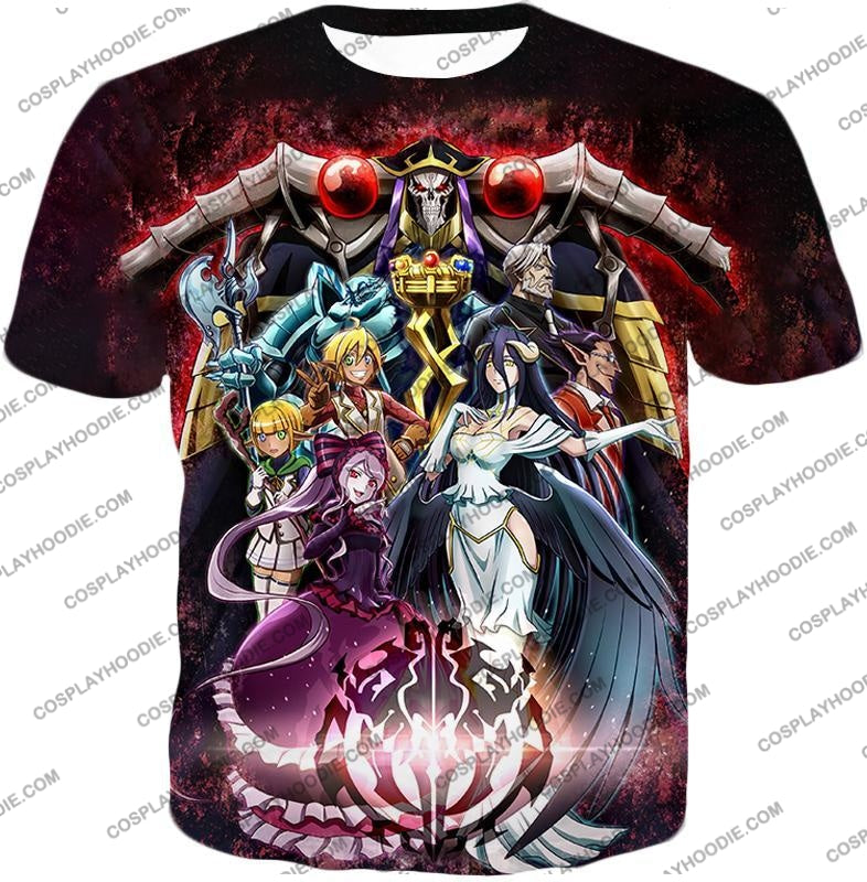 Overlord Cool All In One Promo Anime Graphic T-Shirt Ol040 / Us Xxs (Asian Xs)