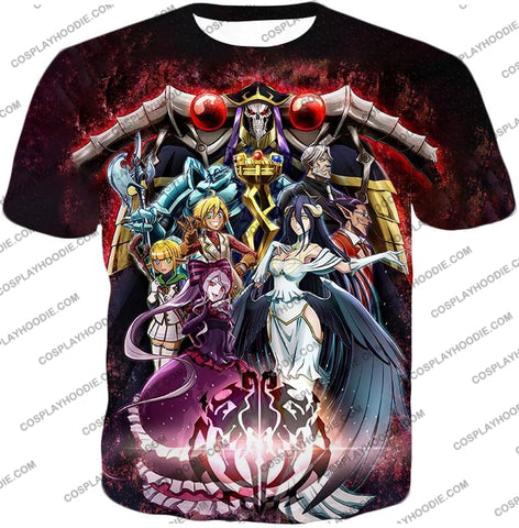 Image of Overlord Cool All In One Promo Anime Graphic T-Shirt Ol040 / Us Xxs (Asian Xs)