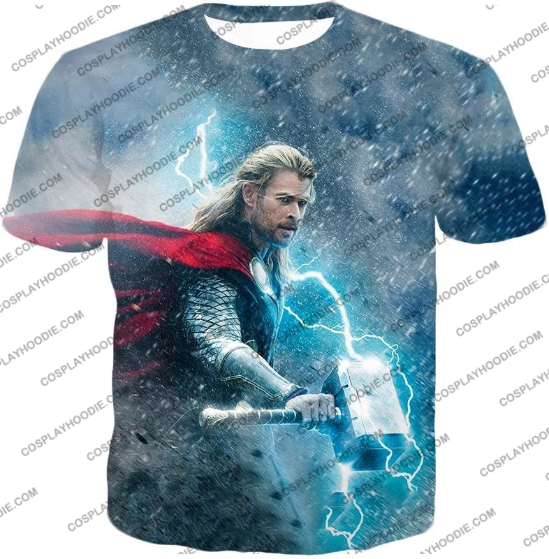 Super Cool Thor Ragnarok Movie Still Amazing Action T-Shirt Thor040 / Us Xxs (Asian Xs)