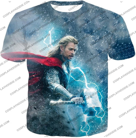 Image of Super Cool Thor Ragnarok Movie Still Amazing Action T-Shirt Thor040 / Us Xxs (Asian Xs)
