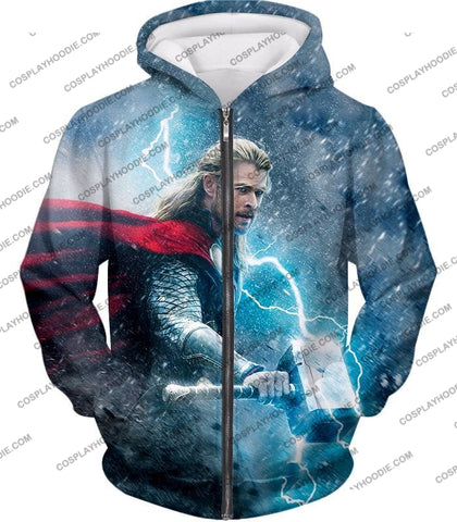 Image of Super Cool Thor Ragnarok Movie Still Amazing Action T-Shirt Thor040 Zip Up Hoodie / Us Xxs (Asian