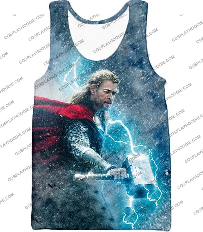 Super Cool Thor Ragnarok Movie Still Amazing Action T-Shirt Thor040 Tank Top / Us Xxs (Asian Xs)