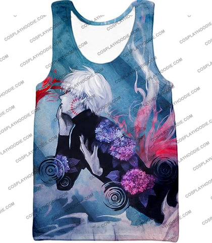 Image of Tokyo Ghoul Cool Anime Graphic Promo Ken Kaneki Awesome Printed T-Shirt Tg090 Tank Top / Us Xxs