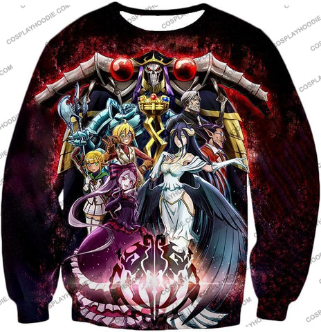 Image of Overlord Cool All In One Promo Anime Graphic T-Shirt Ol040 Sweatshirt / Us Xxs (Asian Xs)
