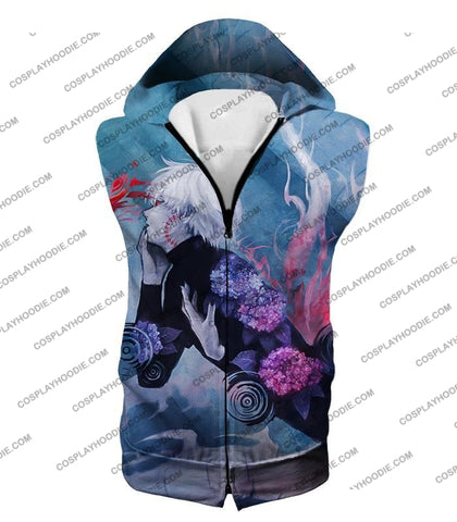 Image of Tokyo Ghoul Cool Anime Graphic Promo Ken Kaneki Awesome Printed T-Shirt Tg090 Hooded Tank Top / Us