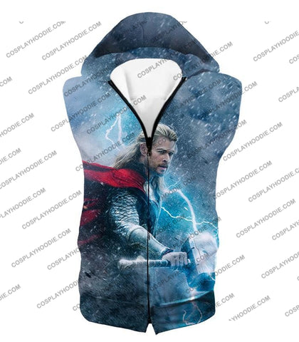 Image of Super Cool Thor Ragnarok Movie Still Amazing Action T-Shirt Thor040 Hooded Tank Top / Us Xxs (Asian