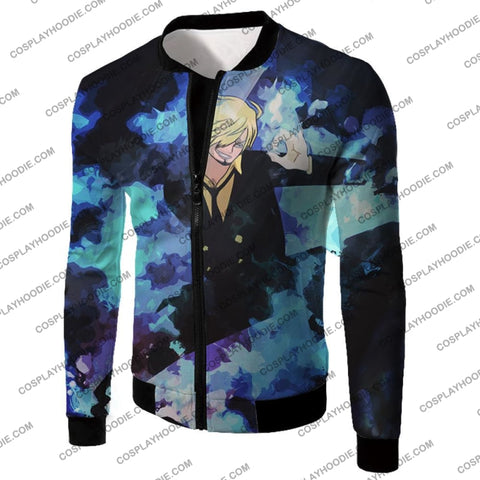 Image of One Piece Super Handsome Straw Hat Pirate Vinsmoke Sanji Action T-Shirt Op040 Jacket / Us Xxs (Asian