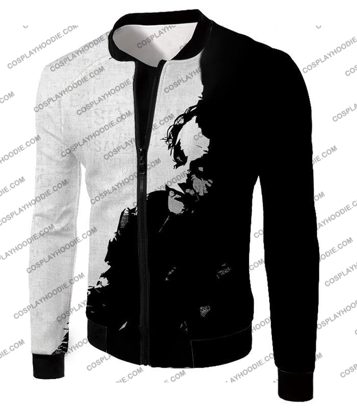 Ultimate Psychotic Villain The Joker Amazing Black And White T-Shirt Bm040 Jacket / Us Xxs (Asian