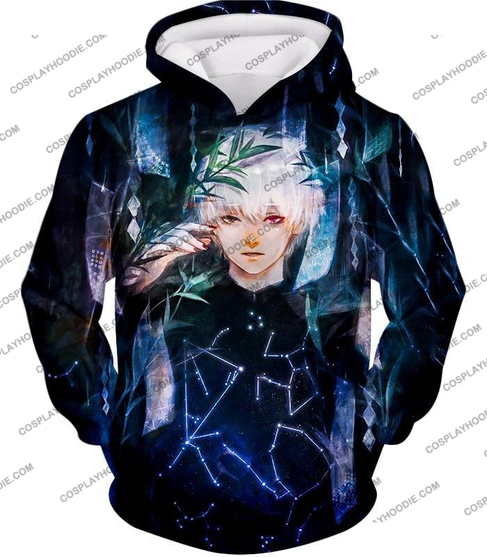 Tokyo Ghoul Awesome Promo Ken Kaneki Cool Graphic Printed T-Shirt Tg091 Hoodie / Us Xxs (Asian Xs)