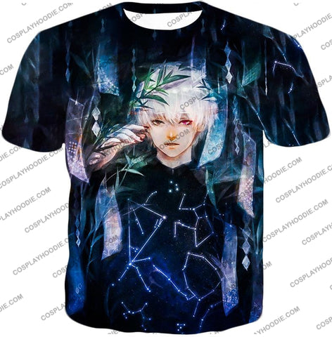 Image of Tokyo Ghoul Awesome Promo Ken Kaneki Cool Graphic Printed T-Shirt Tg091 / Us Xxs (Asian Xs)