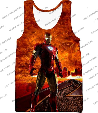 Image of Incredible Avenger Iron Man Blazing Action T-Shirt Im041 Tank Top / Us Xxs (Asian Xs)