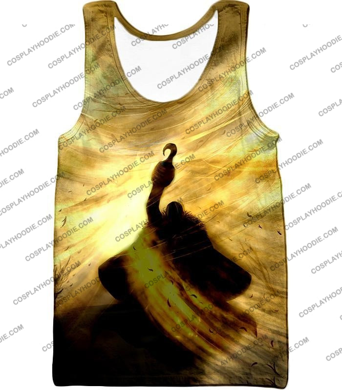 One Piece Notorious Pirate Warlord Crocodile Awesome Action T-Shirt Op041 Tank Top / Us Xxs (Asian