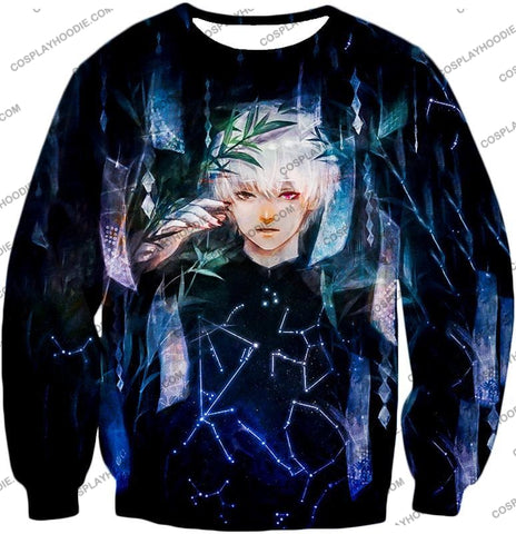 Image of Tokyo Ghoul Awesome Promo Ken Kaneki Cool Graphic Printed T-Shirt Tg091 Sweatshirt / Us Xxs (Asian