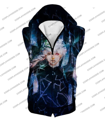 Image of Tokyo Ghoul Awesome Promo Ken Kaneki Cool Graphic Printed T-Shirt Tg091 Hooded Tank Top / Us Xxs
