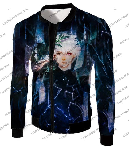 Image of Tokyo Ghoul Awesome Promo Ken Kaneki Cool Graphic Printed T-Shirt Tg091 Jacket / Us Xxs (Asian Xs)