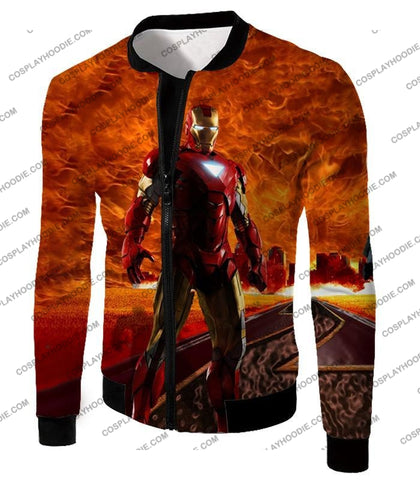 Image of Incredible Avenger Iron Man Blazing Action T-Shirt Im041 Jacket / Us Xxs (Asian Xs)