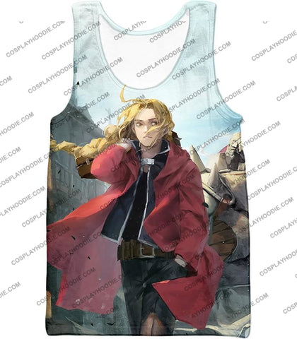 Image of Fullmetal Alchemist Awesome High Definition Art Edward Elrich Anime Poster T-Shirt Fa042 Tank Top /