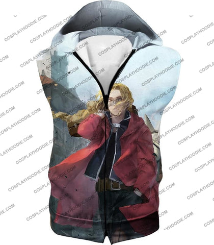 Image of Fullmetal Alchemist Awesome High Definition Art Edward Elrich Anime Poster T-Shirt Fa042 Hooded Tank