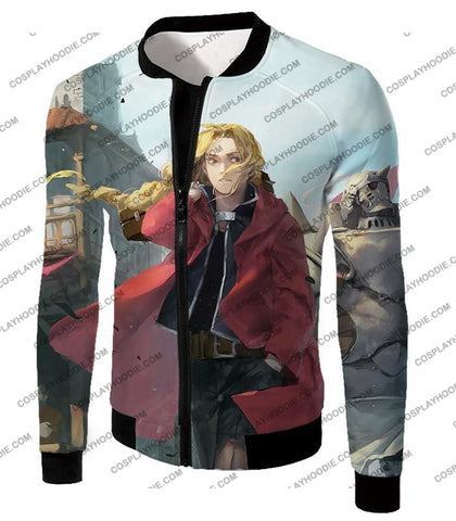 Image of Fullmetal Alchemist Awesome High Definition Art Edward Elrich Anime Poster T-Shirt Fa042 Jacket / Us