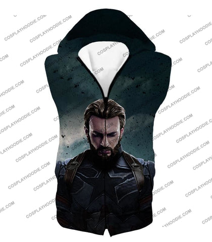 Image of The Avengers Awesome Hero Steve Rogers Aka Captain America T-Shirt Ta043 Hooded Tank Top / Us Xxs