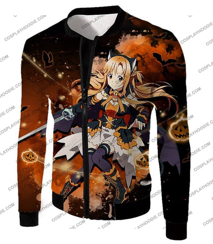 Image of Sword Art Online Sao Super Cute Character Yuuki Asuna Awesome Anime Graphic T-Shirt Sao043 Jacket /