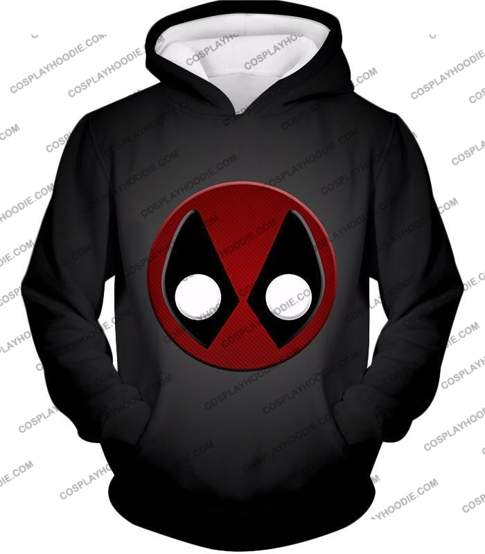 Favourite Deadpool Logo Cool Black T-Shirt Dp044 Hoodie / Us Xxs (Asian Xs)