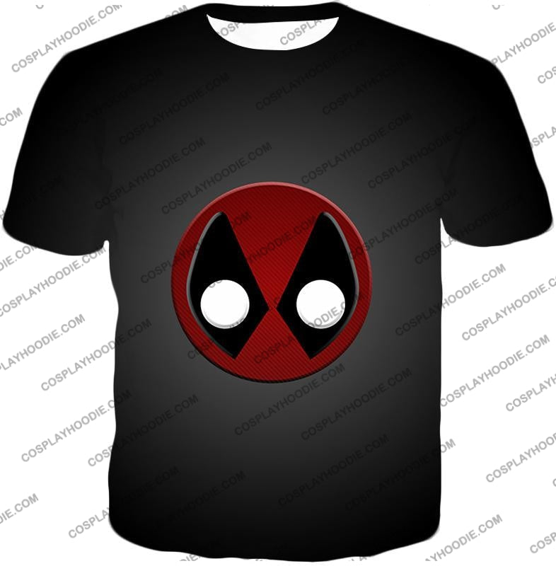 Favourite Deadpool Logo Cool Black T-Shirt Dp044 / Us Xxs (Asian Xs)