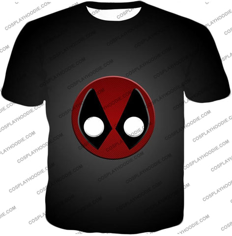 Image of Favourite Deadpool Logo Cool Black T-Shirt Dp044 / Us Xxs (Asian Xs)