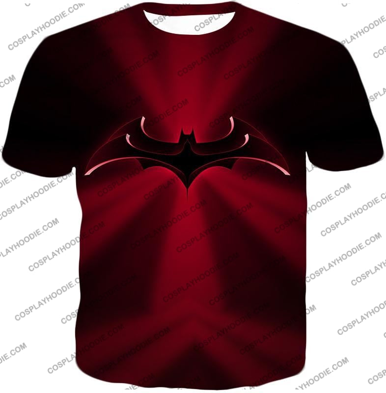 Super Awesome Red Batman Logo Cool Shaded T-Shirt Bm044 / Us Xxs (Asian Xs)