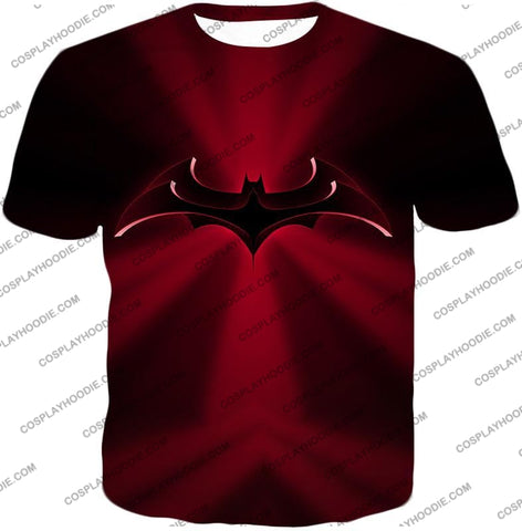 Image of Super Awesome Red Batman Logo Cool Shaded T-Shirt Bm044 / Us Xxs (Asian Xs)