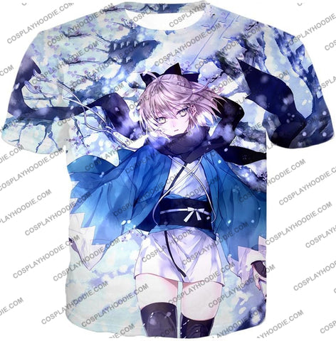 Image of Fate Stay Night Beautidful Blonde Fighter Sakura Saber Hot T-Shirt Fsn044 / Us Xxs (Asian Xs)