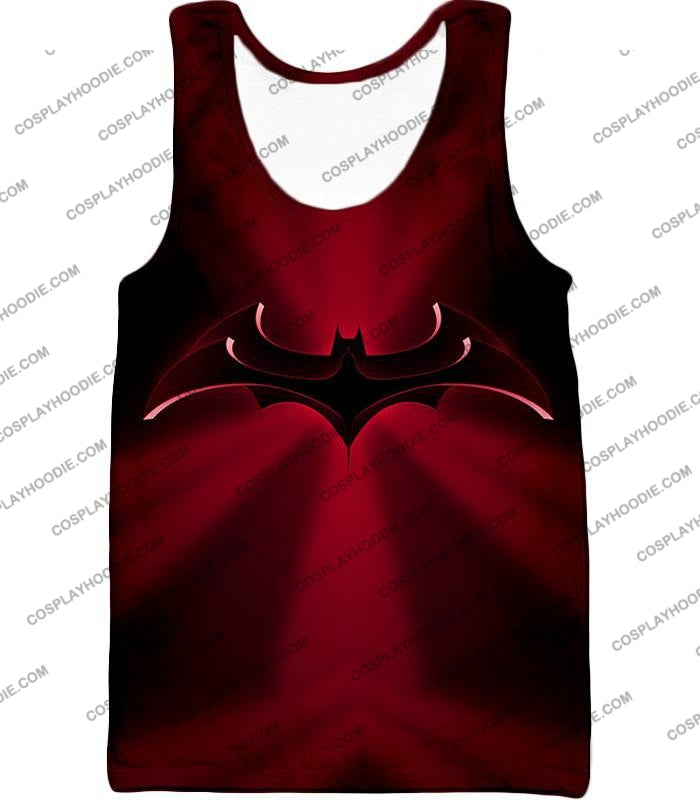 Super Awesome Red Batman Logo Cool Shaded T-Shirt Bm044 Tank Top / Us Xxs (Asian Xs)