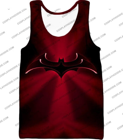 Image of Super Awesome Red Batman Logo Cool Shaded T-Shirt Bm044 Tank Top / Us Xxs (Asian Xs)