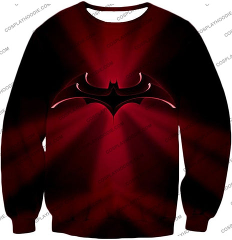 Image of Super Awesome Red Batman Logo Cool Shaded T-Shirt Bm044 Sweatshirt / Us Xxs (Asian Xs)