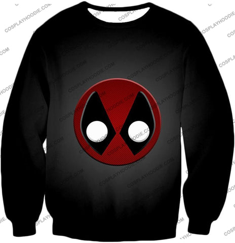 Image of Favourite Deadpool Logo Cool Black T-Shirt Dp044 Sweatshirt / Us Xxs (Asian Xs)