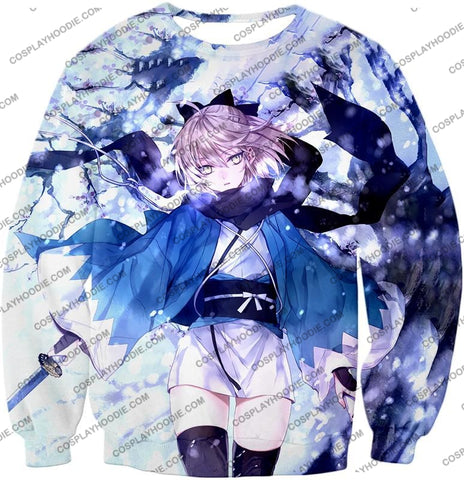 Image of Fate Stay Night Beautidful Blonde Fighter Sakura Saber Hot T-Shirt Fsn044 Sweatshirt / Us Xxs (Asian