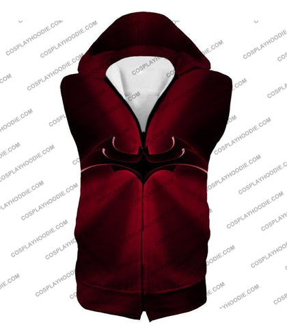 Image of Super Awesome Red Batman Logo Cool Shaded T-Shirt Bm044 Hooded Tank Top / Us Xxs (Asian Xs)