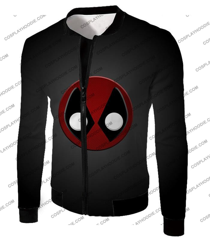 Favourite Deadpool Logo Cool Black T-Shirt Dp044 Jacket / Us Xxs (Asian Xs)
