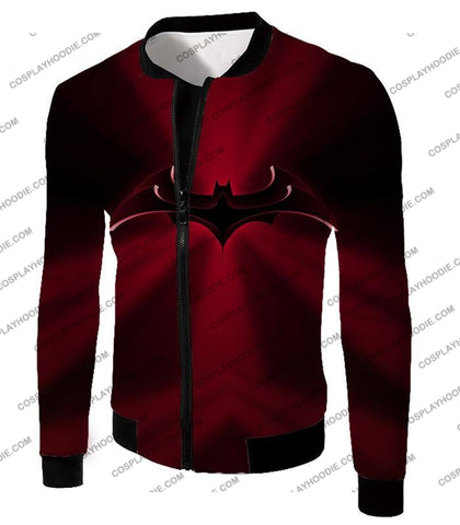 Image of Super Awesome Red Batman Logo Cool Shaded T-Shirt Bm044 Jacket / Us Xxs (Asian Xs)