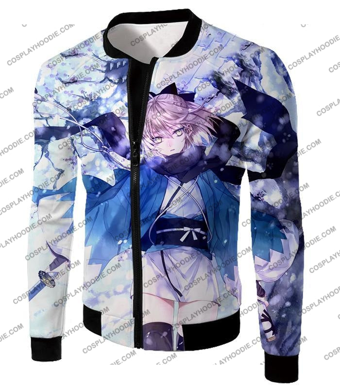 Fate Stay Night Beautidful Blonde Fighter Sakura Saber Hot T-Shirt Fsn044 Jacket / Us Xxs (Asian Xs)