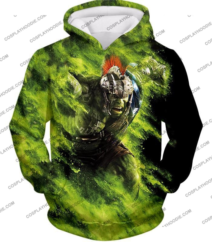 Awesome Marvel Cinematic Warrior Hulk Action T-Shirt Thor045 Hoodie / Us Xxs (Asian Xs)