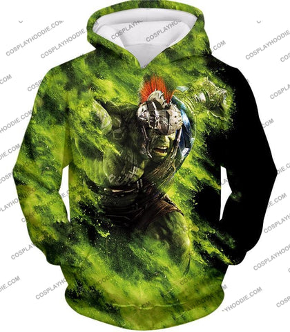 Image of Awesome Marvel Cinematic Warrior Hulk Action T-Shirt Thor045 Hoodie / Us Xxs (Asian Xs)